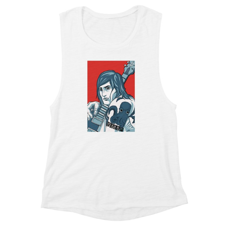 Pretentious Record Store Guy Heartthrob T-shirt Women's Muscle Tank by Brain Cloud Comics' Artist Shop for Cool T's
