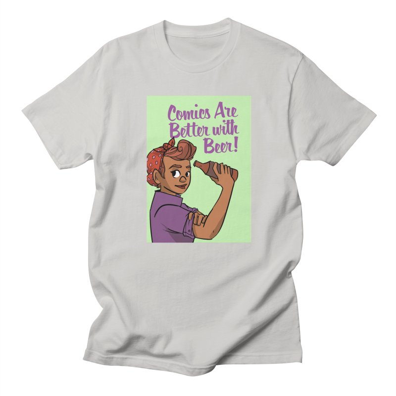 Comics Are Better with Beer Men's Regular T-Shirt by Brain Cloud Comics' Artist Shop for Cool T's