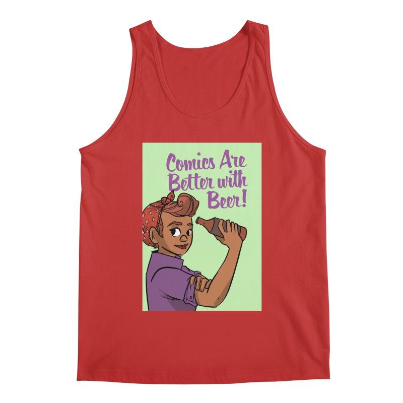 Comics Are Better with Beer Men's Tank by Brain Cloud Comics' Artist Shop for Cool T's