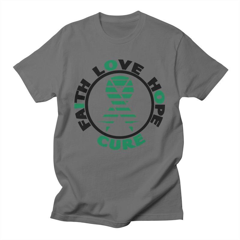 Faith, Love, Hope, Cure Men's T-Shirt by Brain Injury Services Shop