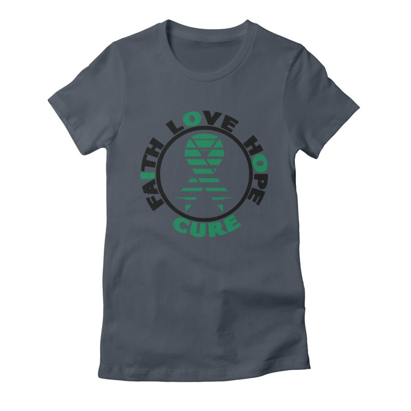 Faith, Love, Hope, Cure Women's T-Shirt by Brain Injury Services Shop