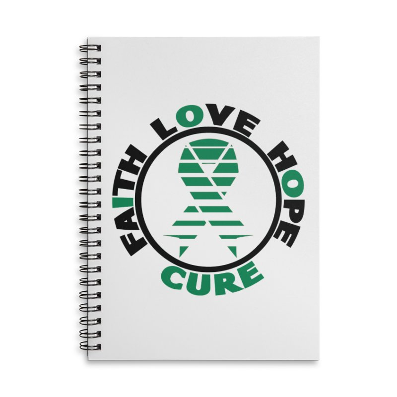 Faith, Love, Hope, Cure Accessories Notebook by Brain Injury Services Shop