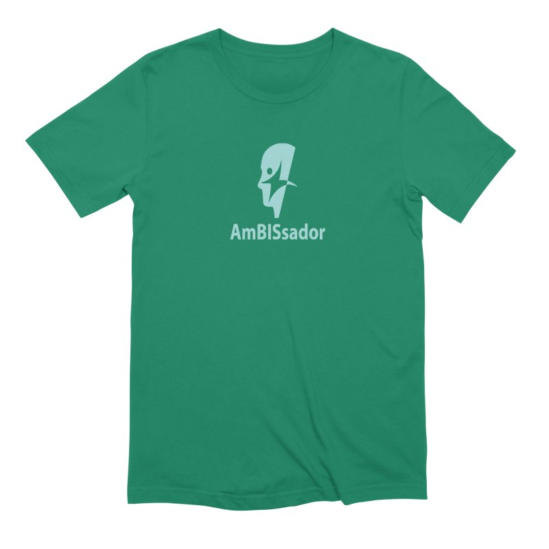 AmBISsador in Men's Extra Soft T-Shirt Evergreen by Brain Injury Services Shop