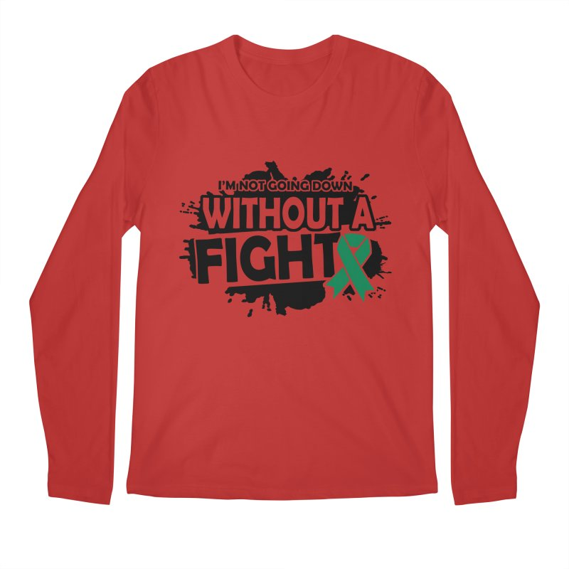 Without a Fight in Men's Regular Longsleeve T-Shirt Red by Brain Injury Services Shop