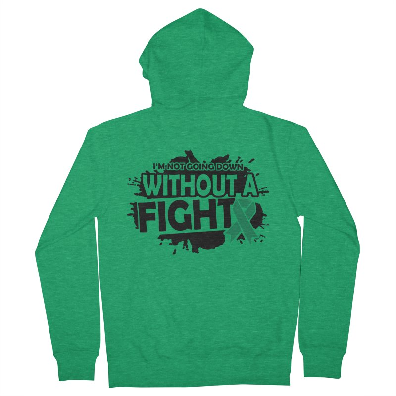 Without a Fight Men's Zip-Up Hoody by Brain Injury Services Shop
