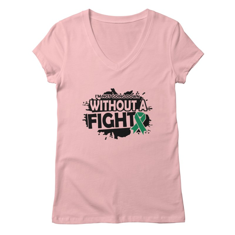Without a Fight Women's V-Neck by Brain Injury Services Shop