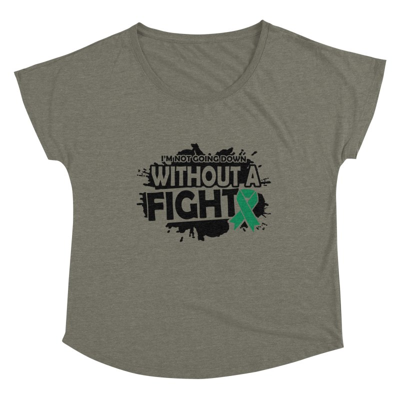 Without a Fight Women's Scoop Neck by Brain Injury Services Shop