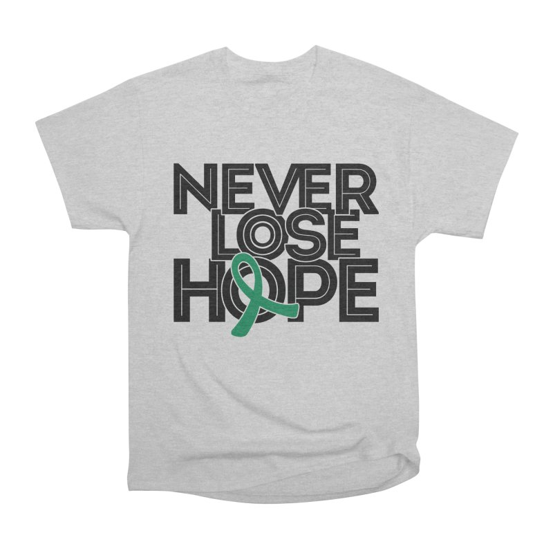 Never Lose Hope (Lines) Men's T-Shirt by Brain Injury Services Shop