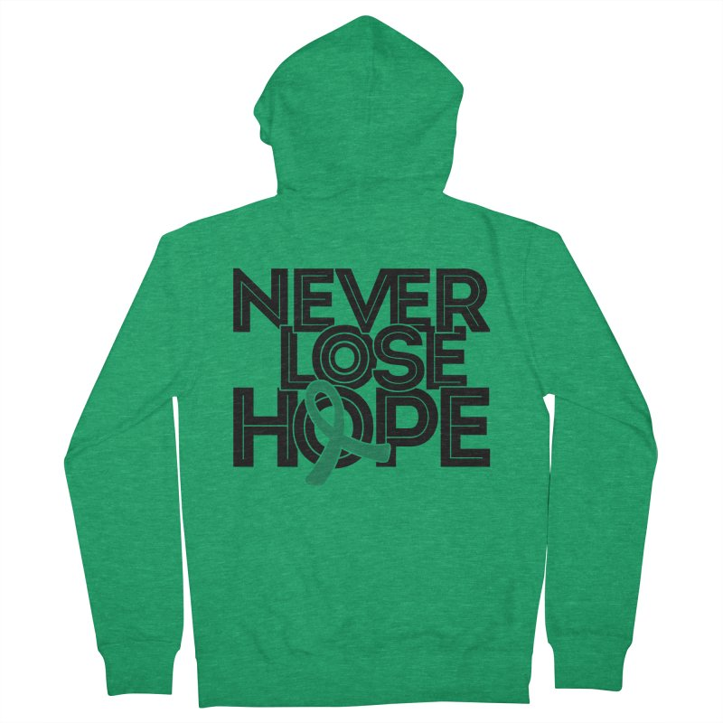 Never Lose Hope (Lines) Women's Zip-Up Hoody by Brain Injury Services Shop