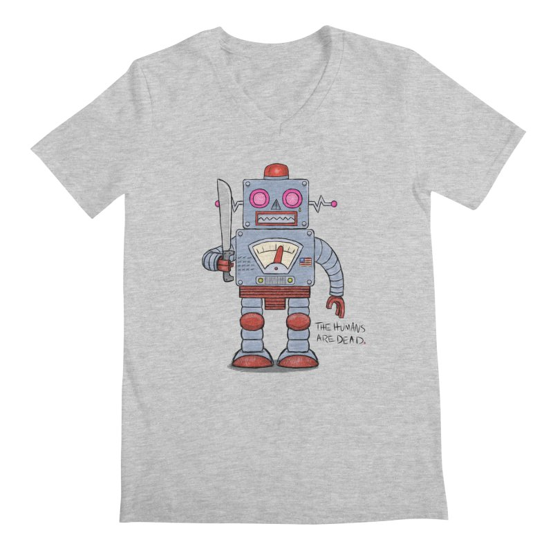 Affirmative. Machette Bot. Men's V-Neck by brandongarrison's Artist Shop