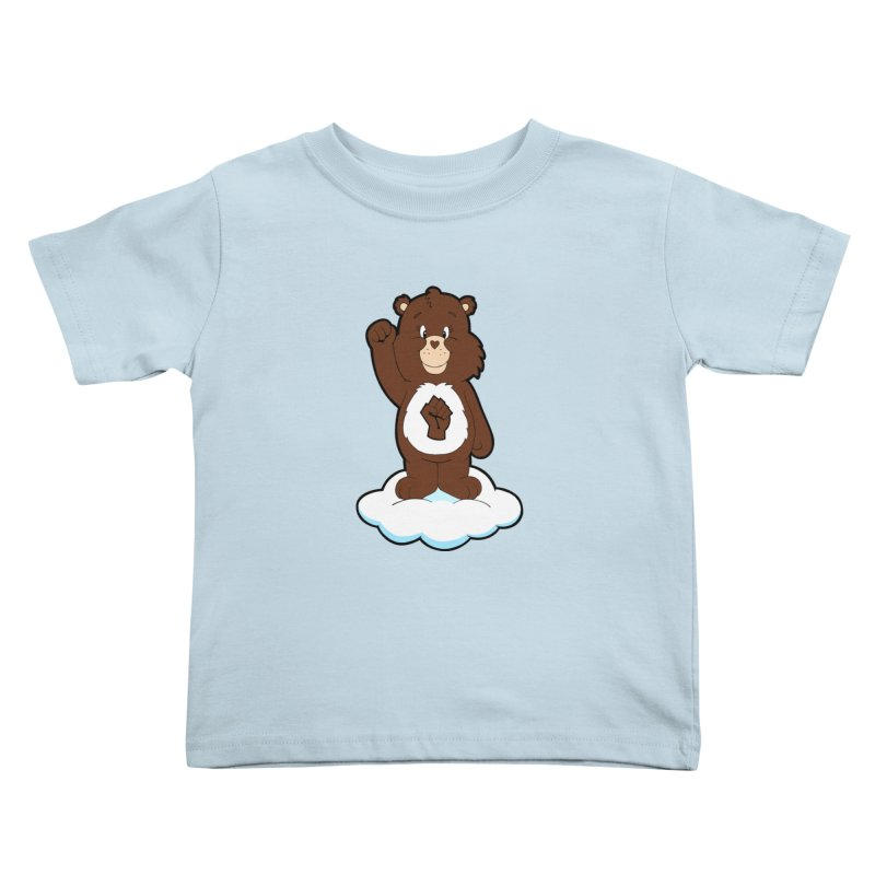 Show You Care Bear - Mahogany Kids Toddler T-Shirt by brandongarrison's Artist Shop