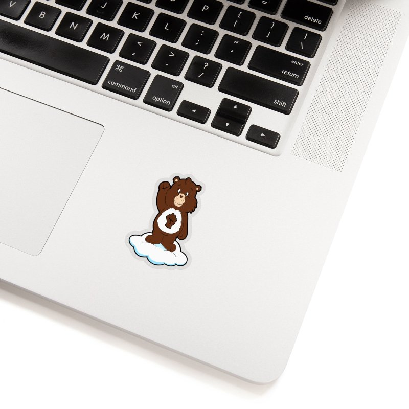 Show You Care Bear - Mahogany Accessories Sticker by brandongarrison's Artist Shop