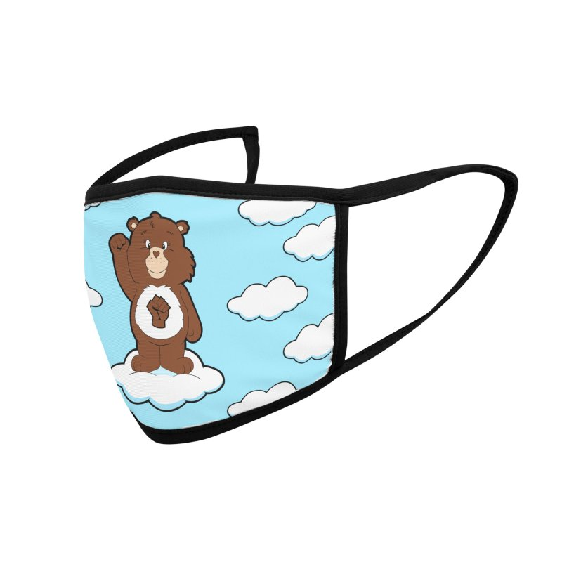 Show You Care Bear - Chocolate Accessories Face Mask by brandongarrison's Artist Shop