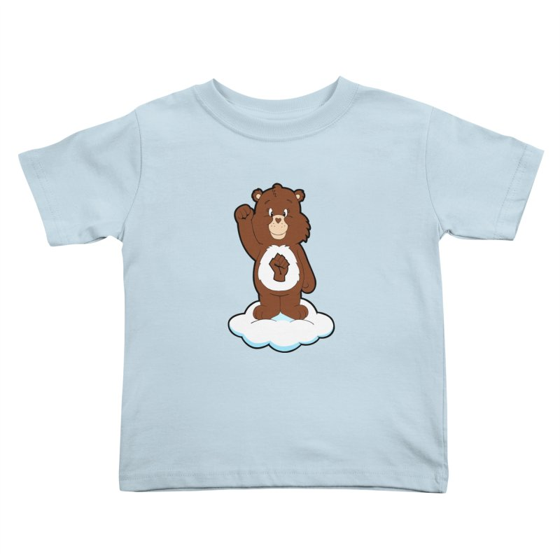 Show You Care Bear - Chocolate Kids Toddler T-Shirt by brandongarrison's Artist Shop