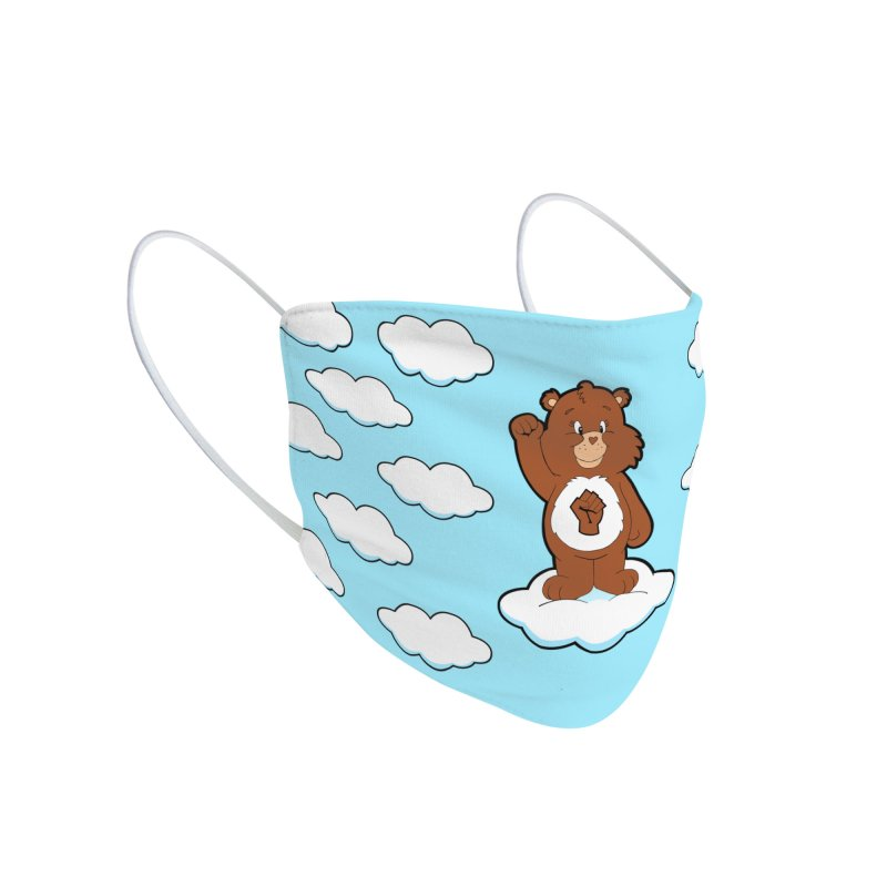 Show You Care Bear - Mocha Accessories Face Mask by brandongarrison's Artist Shop
