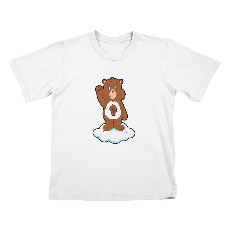 Show You Care Bear - Mocha Kids T-Shirt by brandongarrison's Artist Shop