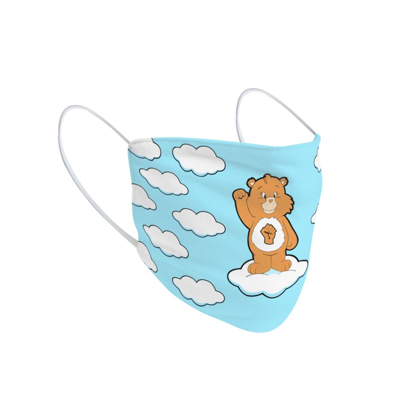 Show You Care Bear - Latte Accessories Face Mask by brandongarrison's Artist Shop