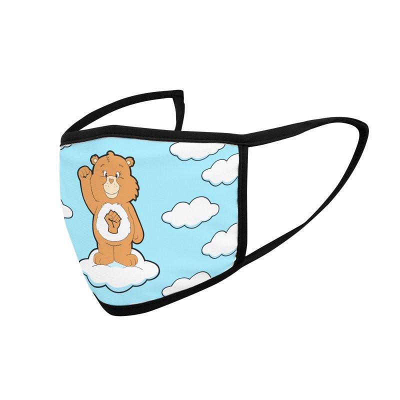 Show You Care Bear - Latte Accessories Face Mask by brandongarrison's Artist Shop