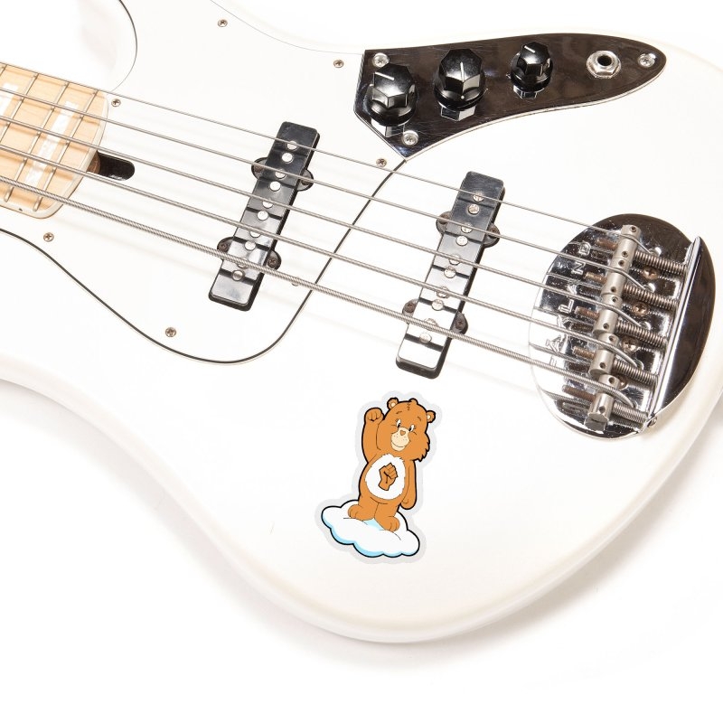 Show You Care Bear - Latte Accessories Sticker by brandongarrison's Artist Shop