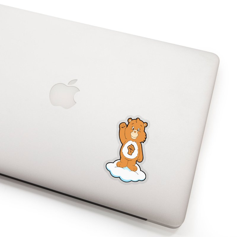 Show You Care Bear - Latte Accessories Sticker by brandongarrison's Artist Shop