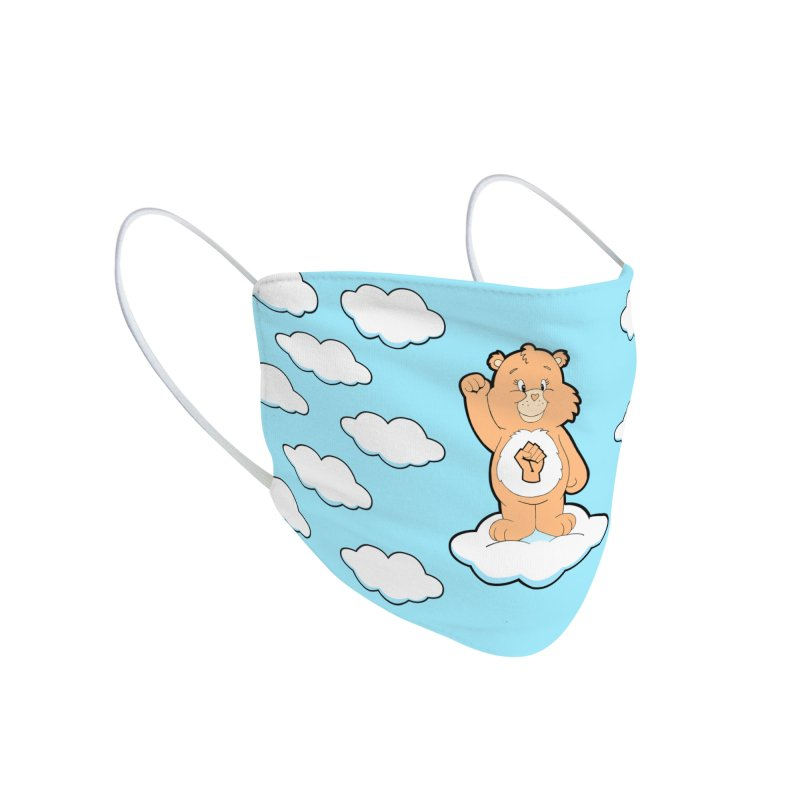 Show You Care Bear - Cream Accessories Face Mask by brandongarrison's Artist Shop