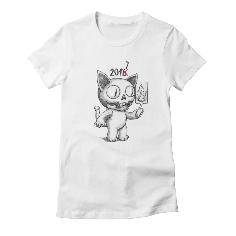 Crappy News Year! Women's Fitted T-Shirt by brandongarrison's Artist Shop