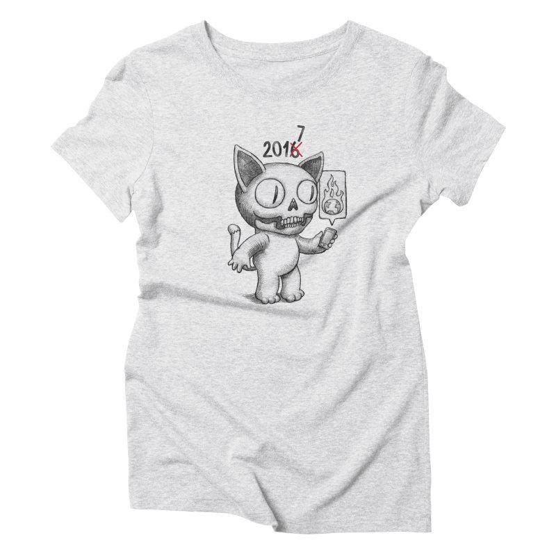Crappy News Year! Women's Triblend T-shirt by brandongarrison's Artist Shop