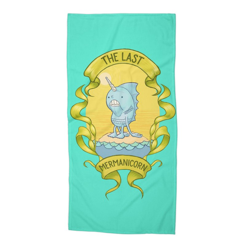 The Last Mermanicorn Accessories Beach Towel by brandongarrison's Artist Shop