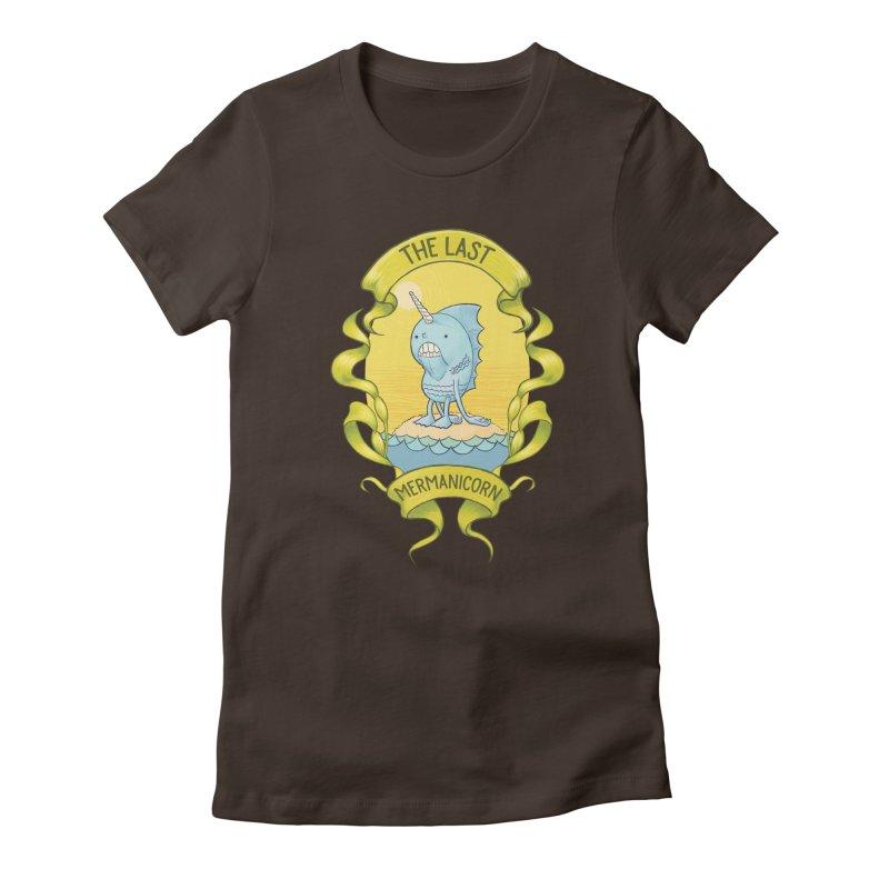 The Last Mermanicorn Women's Fitted T-Shirt by brandongarrison's Artist Shop
