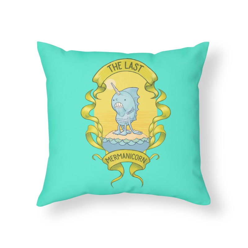 The Last Mermanicorn Home Throw Pillow by brandongarrison's Artist Shop