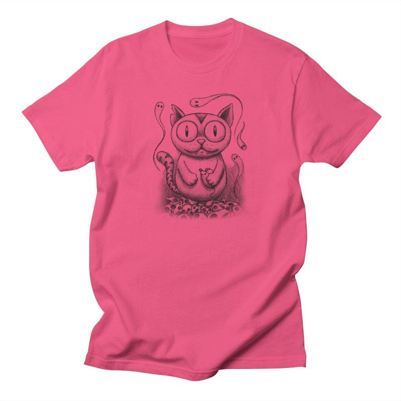 Cat-Snack Souls Men's T-Shirt by brandongarrison's Artist Shop