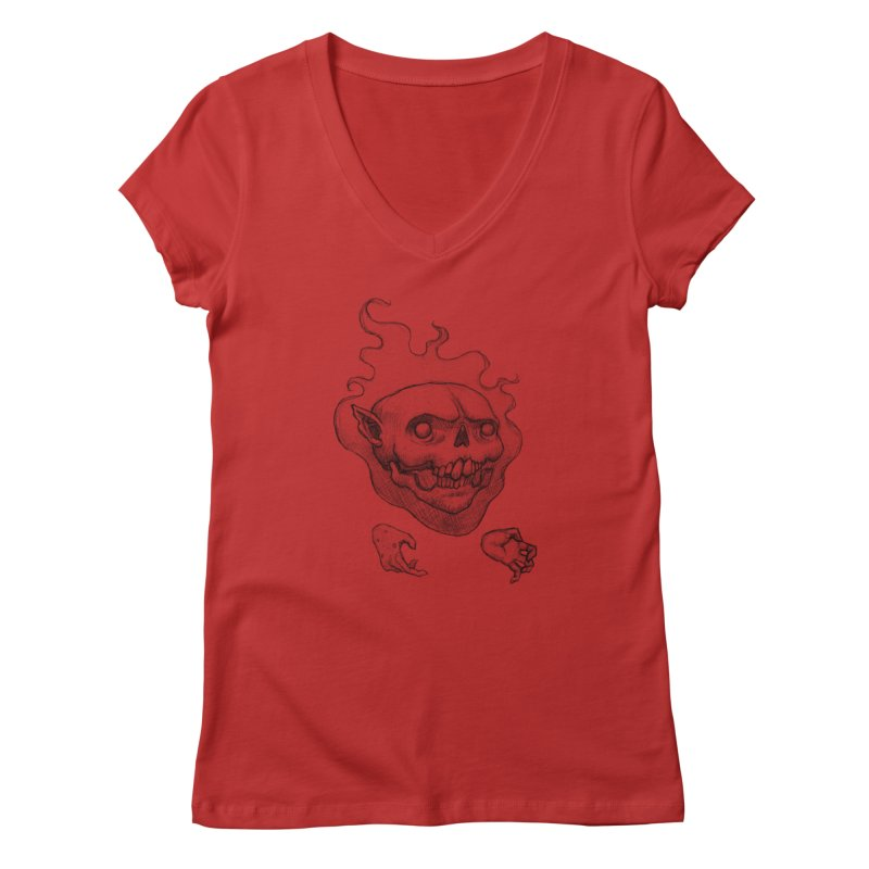 Thursday Women's V-Neck by brandongarrison's Artist Shop