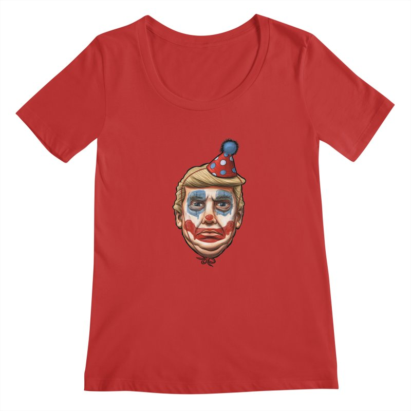 King Clown Trump Women's Scoopneck by brandongarrison's Artist Shop