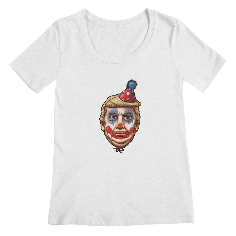 King Clown Trump Women's Regular Scoop Neck by brandongarrison's Artist Shop