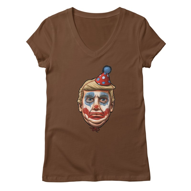 King Clown Trump Women's V-Neck by brandongarrison's Artist Shop
