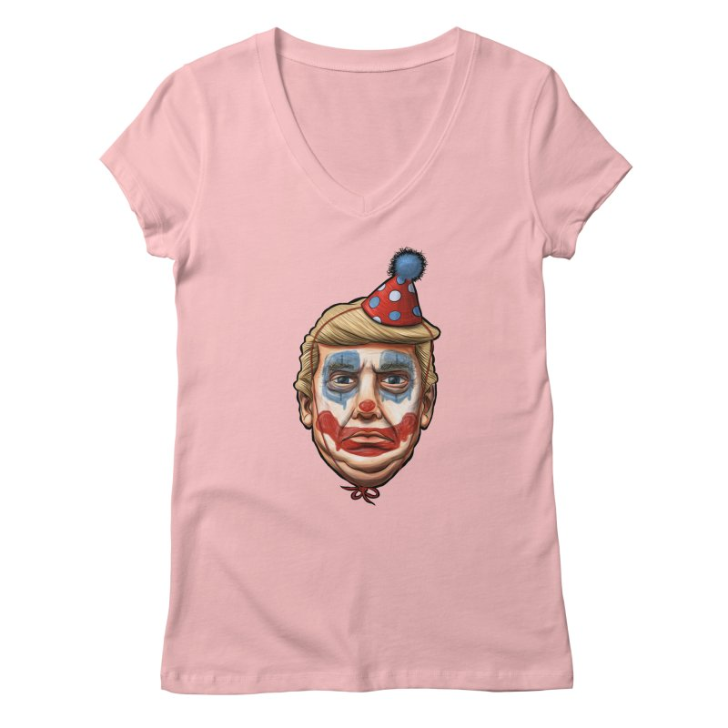 King Clown Trump Women's V-Neck by brandongarrison's Artist Shop