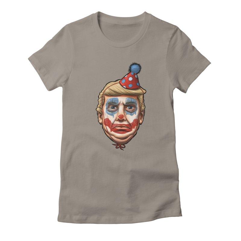 King Clown Trump Women's Fitted T-Shirt by brandongarrison's Artist Shop
