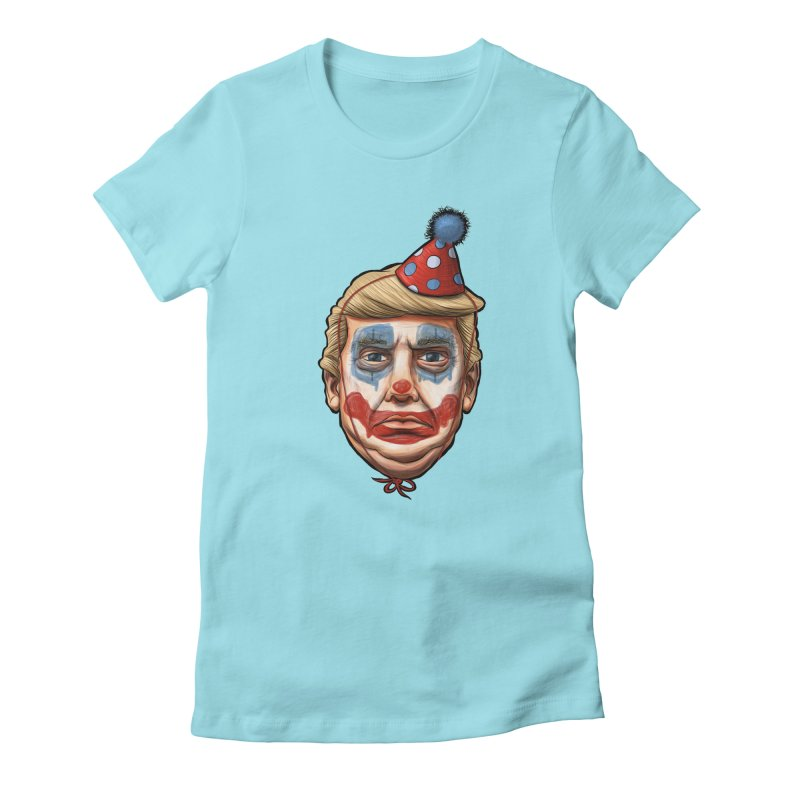 King Clown Trump Women's Fitted T-Shirt by brandongarrison's Artist Shop