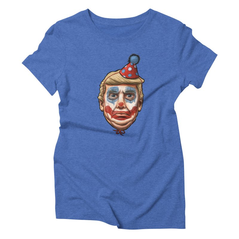King Clown Trump Women's Triblend T-shirt by brandongarrison's Artist Shop
