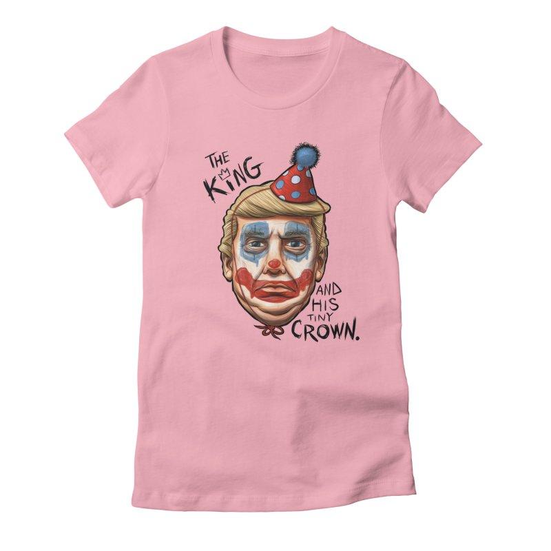 Announcing, King Clown Trump Women's Fitted T-Shirt by brandongarrison's Artist Shop
