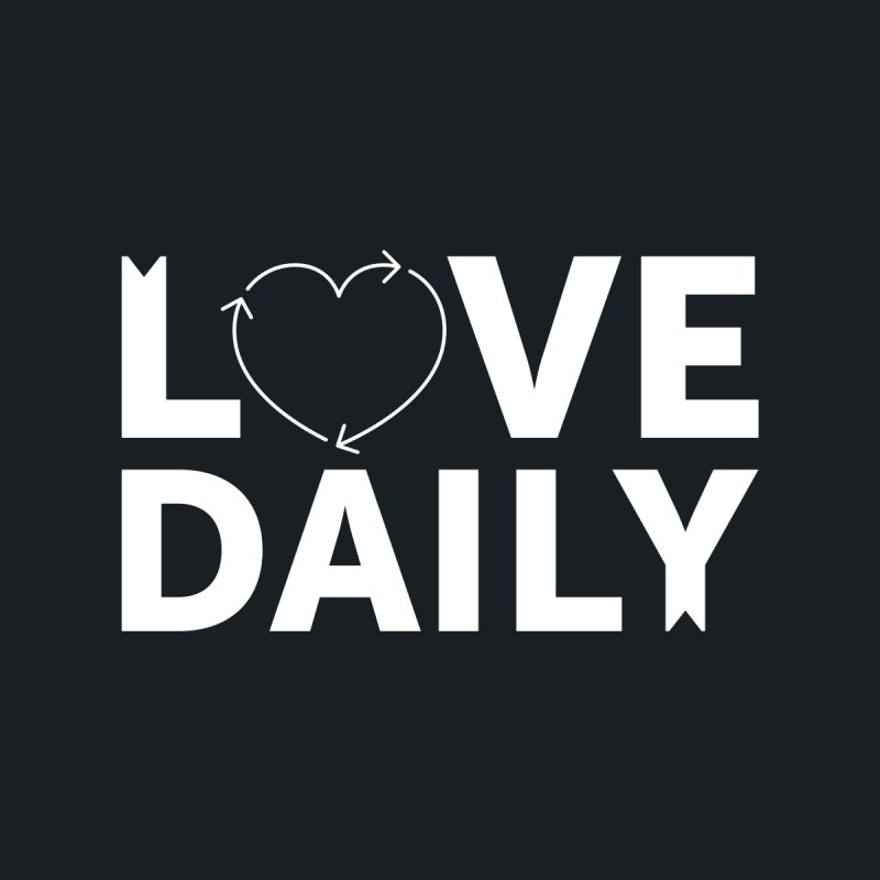 Love Daily— white text Men's V-Neck by brandongarrison's Artist Shop