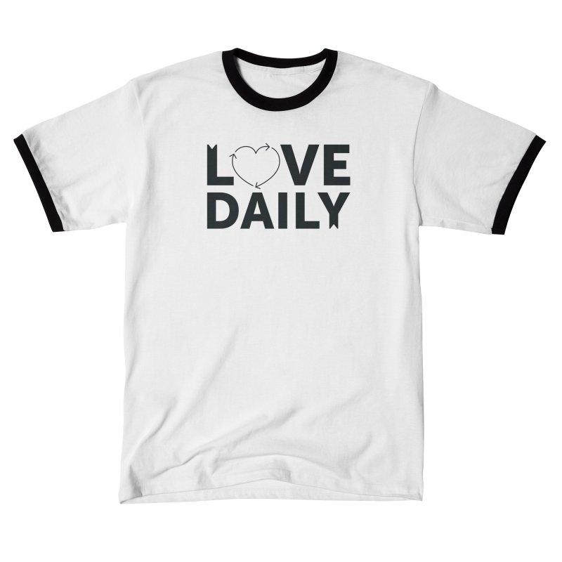 Love Daily- black text Women's T-Shirt by brandongarrison's Artist Shop