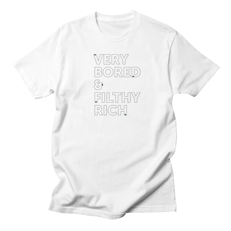 The Very Bored Rich— outlined text Men's  by brandongarrison's Artist Shop
