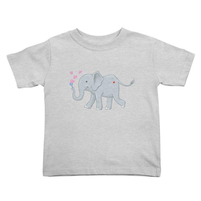 Elephant Bubbles Kids Toddler T-Shirt by brandongarrison's Artist Shop