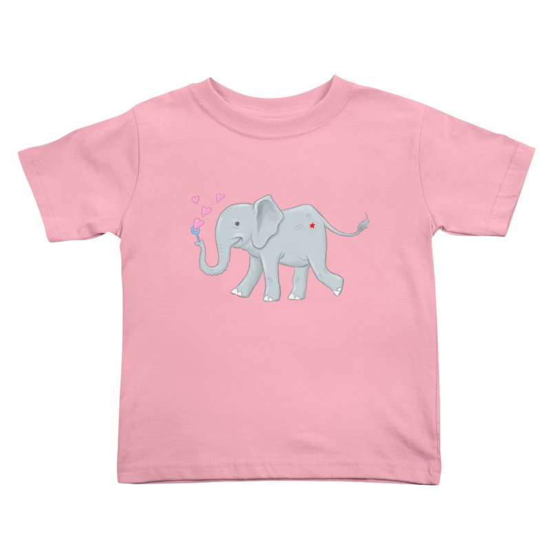 Elephant Bubbles Kids Toddler T-Shirt by brandongarrison's Artist Shop