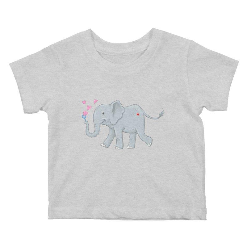 Elephant Bubbles Kids Baby T-Shirt by brandongarrison's Artist Shop