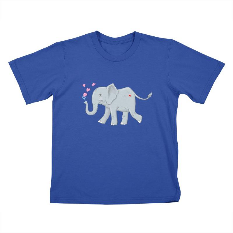Elephant Bubbles Kids T-Shirt by brandongarrison's Artist Shop