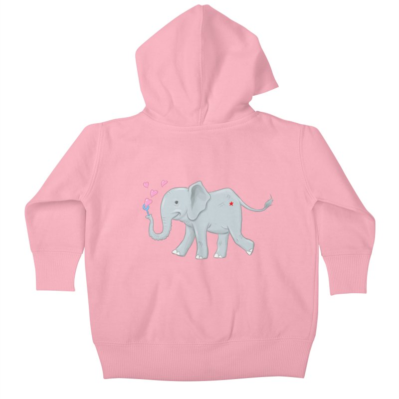 Elephant Bubbles Kids Baby Zip-Up Hoody by brandongarrison's Artist Shop