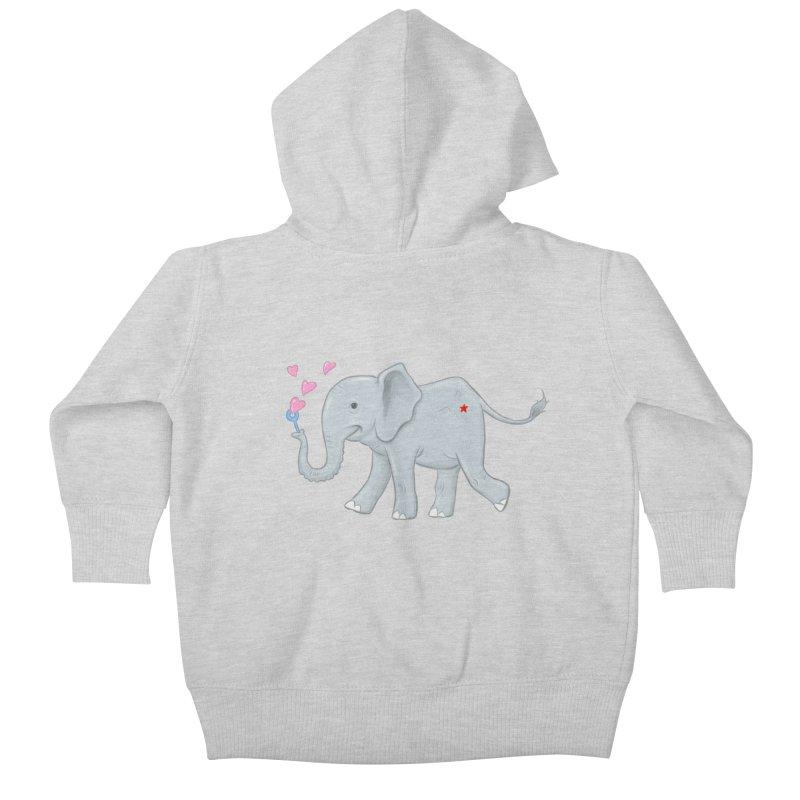 Elephant Bubbles Kids Baby Zip-Up Hoody by brandongarrison's Artist Shop