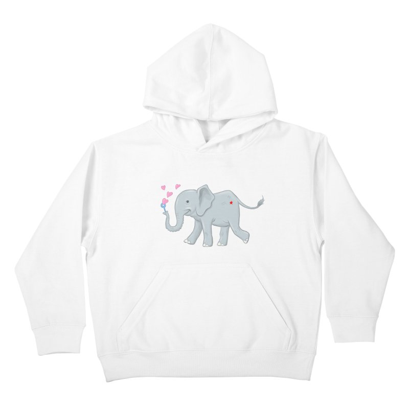 Elephant Bubbles Kids Pullover Hoody by brandongarrison's Artist Shop